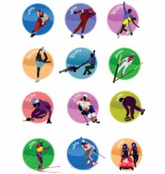 winter olympic sport icons vector image vector image