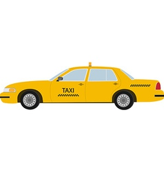 Yellow taxi vector image