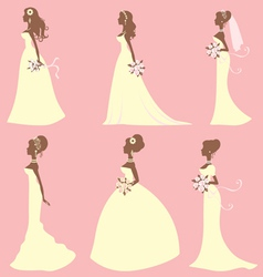 Brides different styles vector