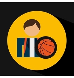 Student uniform school basket ball design vector