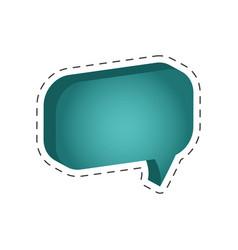 speech bubble message cut line vector image