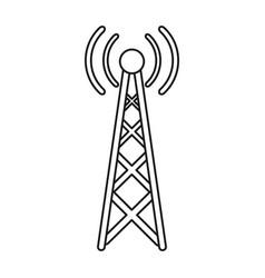 radio antenna transmission mast communication line vector image