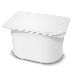 Plastic container vector