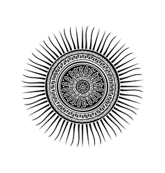 Mayan sun symbol vector image