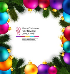 Bright and colorful winter holidays background vector image