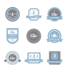 Jogging label set vector