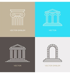 set of logo design templates emblems and icons vector image