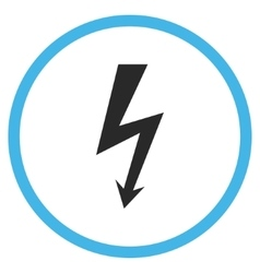 High voltage flat rounded icon vector