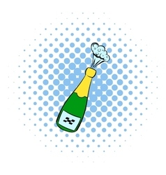 Champagne explosion icon comics style vector