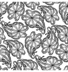 Graphic octopus seamless pattern vector