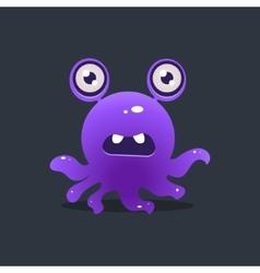 Purple octopus alien vector