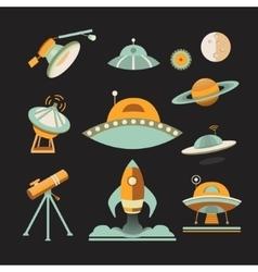 Space icon set vector