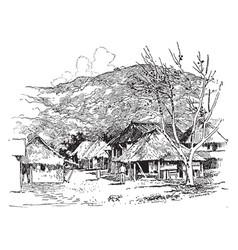 A typical village near manila vintage vector