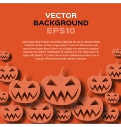 Abstract background with pumpkins halloween vector