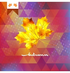 Autumn abstract geometric background EPS 10 vector image