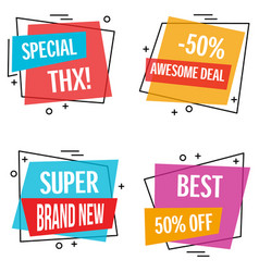 banner set of sign image vector image vector image