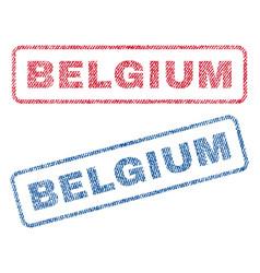 Belgium textile stamps vector