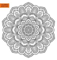Black mandala for coloring book vector