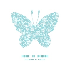 Blue and white lace garden plants butterfly vector