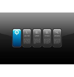 Blue interface vector
