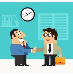 Business life hire scene vector