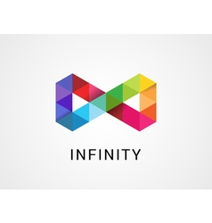 Colorful abstract infinity endless symbol and icon vector