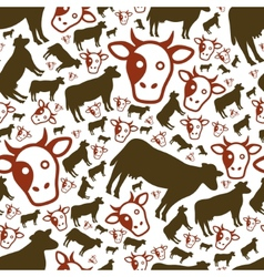 Cow seamless pattern vector