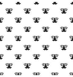 Fake nose mustache eyebrows glasses pattern vector image
