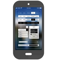 Flat ui design smartphone mobile app template vector image vector image