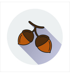 hazelnut simple icon on white background vector image