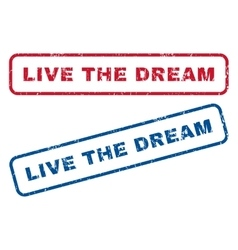 Live the dream rubber stamps vector