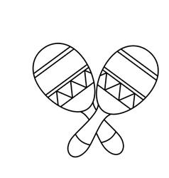 Mexican maraca instrument icon vector
