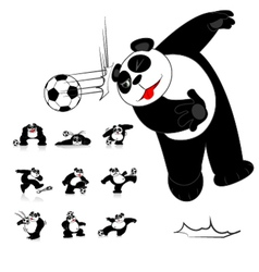 Panda soccer style vector