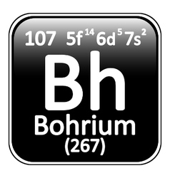 Periodic table element bohrium icon vector