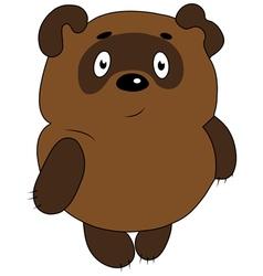 Pooh winnie pooh bear toon vector