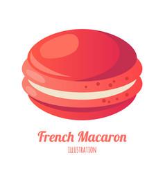 Realistic isolated macaroon vector