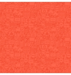 Red Line Coding Seamless Pattern vector image vector image