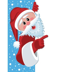santa claus holding blank paper vector image vector image