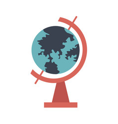 school globe geography navigation location map vector image