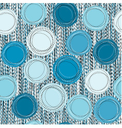 sewed blue round shapes seamless background vector image