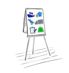 Sketch logistic business presentation template vector