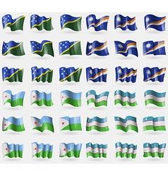 Solomon islands marshall islands djibouti vector