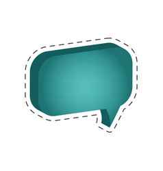 speech bubble message cut line vector image vector image
