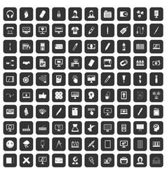 100 webdesign icons set black vector