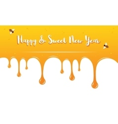 Honey drips with shana tova greetings  rosh vector