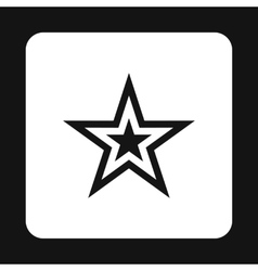 Celestial figure star icon simple style vector
