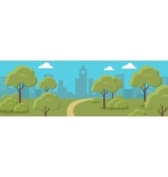 Urban cityscape with park vector
