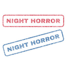 Night horror textile stamps vector