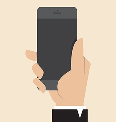 Hand with smart phone vector