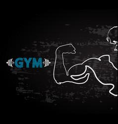 Gym design vector